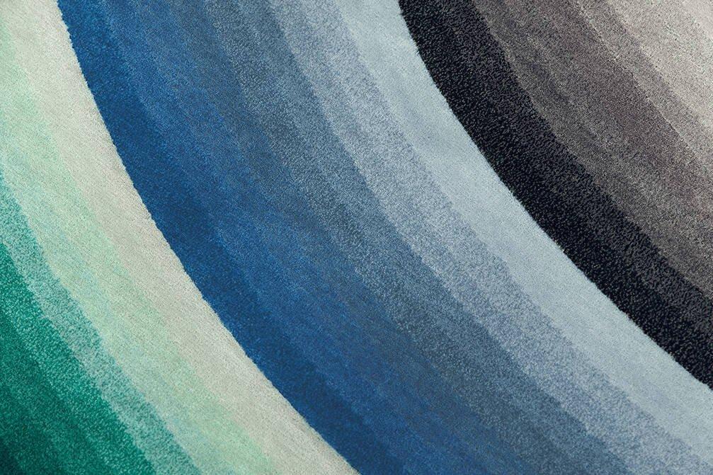 Dywan Gan Round Mirage Blue